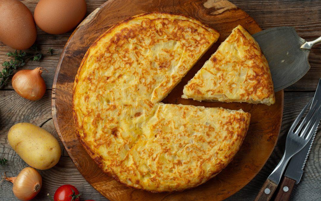 Omelette à l'oignon doux des Cévennes